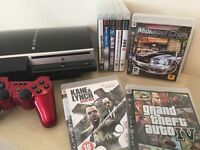 GREAT BUNDLE - PS3 Console 80GB + Controller + 8 Great Games inc Grand Theft Auto IV & More