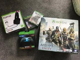 Xbox one 500gb new controller and games