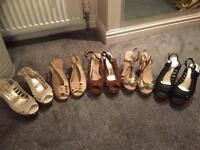 New Look wedges 5 Pairs Size 6