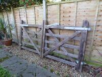 Great entrance/driveway wooden gates .Excellent condition