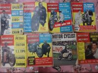 7 Motorcycle Scooter and Three Wheeler Mechanics Magazines (+Motor Cyclist illustrated)