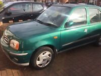 Nissan micra up for sale LOW Mileage MOT till March 2018