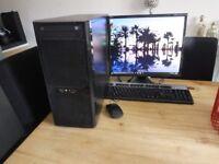 Win 10 pro 64 bit, intel core 2 QUAD Q8300, 4 gb ram ddr3, wi-fi, monitor, keyboard, mouse