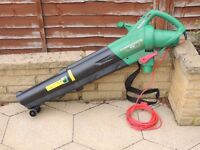 QUALCAST 2400W Electric LEAF BLOWER & VACUUM used Good Working Order no bag Collection Only