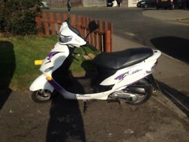 Peugeot clic moped , 50cc . 4 stroke . Will come with full mot .