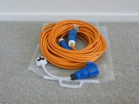 Mains Extension Cable 25m with Continental Adapter