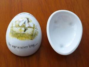 Holly Hobbie Egg Trinket box - Made by Sands USA, in Japan - 1975 Pelican Waters Caloundra Area Preview