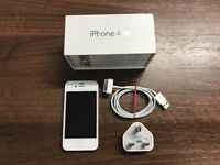 Apple iPhone 4S 16GB White - FACTORY UNLOCKED - Includes Box & Charger