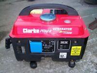 Clarke G1200 Portable Generator 1100 watt in excellent condition