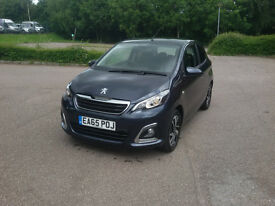 2015 PEUGEOT 108 1.2 VTI ALLURE ONLY 7000 MILES, SERVICE HISTORY, CAT D