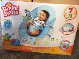 Baby bouncer chair - bright stars