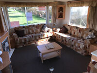 Double glazed & heated caravan for quick sale at Southerness