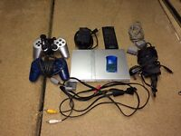 PLAY STATION 2 SLIM CONSOLE BUNDLE WITH CONTROLLER AND 26 GAMES