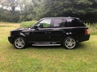 2006 56 PLATE LAND ROVER RANGE ROVER SPORT 2.7 TDV6 HSE AUTO IN BLACK - PX POSS
