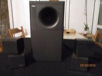 Hi Fi unit Bose acoustimass 3 series 2 and 2 pairs of treble units