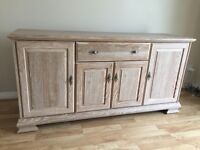 Matching Sideboard and Six Chairs (light oak)