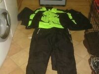 MOTOR BIKE JACKET AND TROUSERS SIZE XL£25