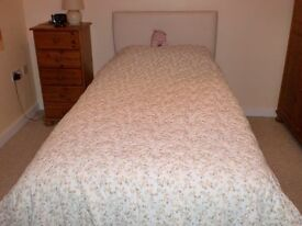 Single Divan Bed with Headboard and storage