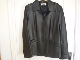 LADIES REAL SOFT BLACK LEATHER JACKET - GLAN MORI COLLECTION
