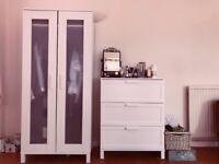 White Wardrobe IKEA Aneboda Excellent Condition
