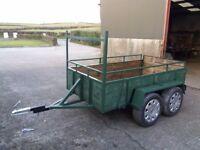 8ftx4ft twin axle trailer