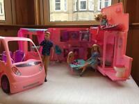 Barbie Camper Van, car, Barbie Dolls