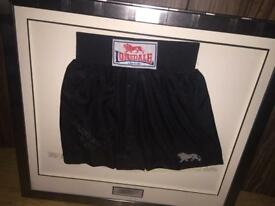 Frank Bruno framed shorts