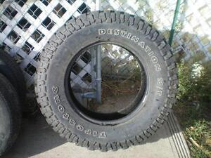 1 Firestone Destination M/T Tire * LT265 70R17 121/118Q * $30.00 .  M+S / All Season Tire ( used tire )