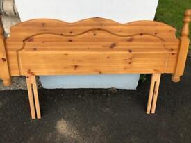 Wooden double head board