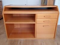 Multi purpose Teak effect Wooden work / computer desk