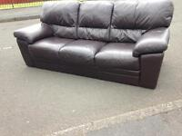 Brown 3&2 Leather sofas