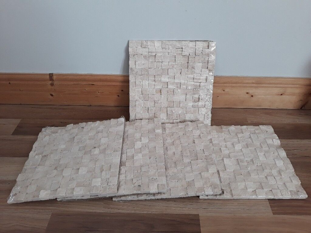 Natural Stone Mosaic Tiles 300mm x 300mm 5 Packs New still in wrapping