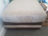 2x two seater sofas and footstool