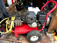 PRESSURE WASHER JETWASH HONDA GX390 11.5HP PETROL 15LTRS