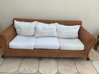 Wicker Settee and Armchair