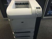 HP P4515x working network printer with x2 addition trays