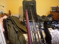 FULL SET OF BARBEL FISHING GEAR.