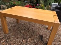 SOLID OAK DINING TABLE ....150 cms x 90 cms