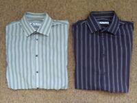 Mens Ben Sherman shirts x 2 size 16 collar