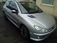 peugeot 206 on a 06 plate 450 ono new clutch bakes been done and hole new exhust 450 ono