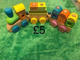 Lots of wooden baby/ toddler toys