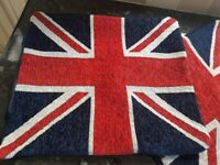 Union Jack Cushion Covers x 2 - New