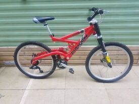 Saracen hazard dual suspension mountain bike