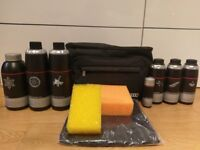 Audi car cleaning detailing kit with bag