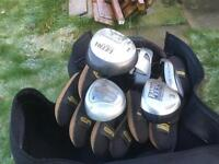 Full set golf clubs and accessories.