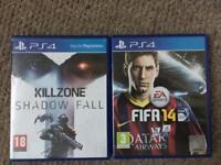 Killzone shadow fall & Fifa 14