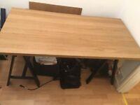 IKEA Desk - Black & Birch Effect