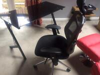 Eliza Tinsley Mesh High Back Executive Swivel Desk Armchair complete with desk excellent condition