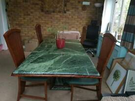 Large Italian Marble Dining Table