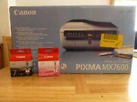 Printer - Canon PIXMA MX7600 Multi Function Printer (Printer, Fax, Scanner, Copy)